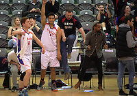 Action from the SAS Secondary Schools National Basketball Championships A boys semifinal match between St Kevin's College and Stratford High School at Arena Manawatu in Palmerston North, New Zealand on Wednesday, 28 September 2016. Photo: Dave Lintott / lintottphoto.co.nz