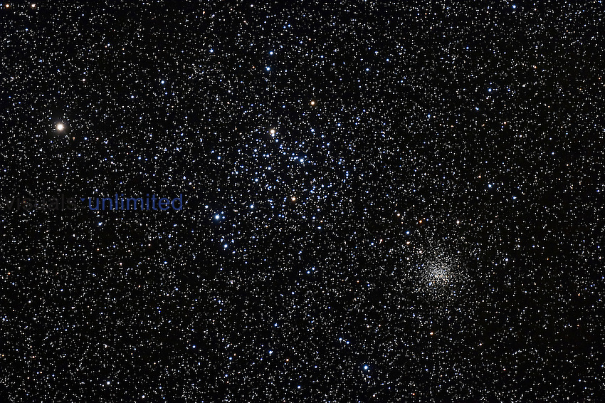 M35 in Gemini with NGC 2158