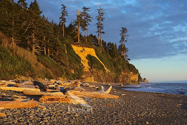 Sunset near Ruby Beach, Olympic Coast, Washington, June.