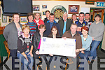 Pictured here on Wednesday 21st in Craineens Bar, the Finalists in the mixed doubles Darts Competition held in memory of Noreen McGill, with all money raised(2016) going to The Tralee Oncology Unit, front l-r; Sadie Curran, Annamarie O'Sullivan, Mary O'Sullivan, Noel O'Sullivan, Sheila Quigley, back l-r; Noreen Corcoran, Noreen O'Mahony, Paudie O'Donovan, John McGill, Frank O'Connell, John O'Shea, Declan Corcoran, Paudie O'Shea, Richard Quigley & Sheila O'Connell.