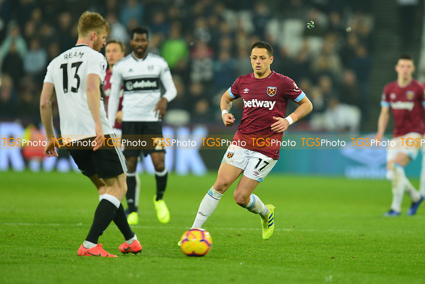 Javier Hernandez of West Ham United during West Ham United vs Fulham, Premier League Football at The London Stadium on 22nd February 2019