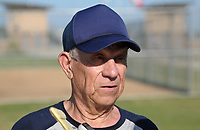NWA Democrat-Gazette/BEN GOFF @NWABENGOFF<br /> Elmer Grove, 87, of the Roadrunners of Oklahoma City, Okla. talks about playing in the Senior Softball U.S.A. league Thursday, July 13, 2017, during the Senior Softball U.S.A. Midwest Championships at the Rogers Regional Sports Park.