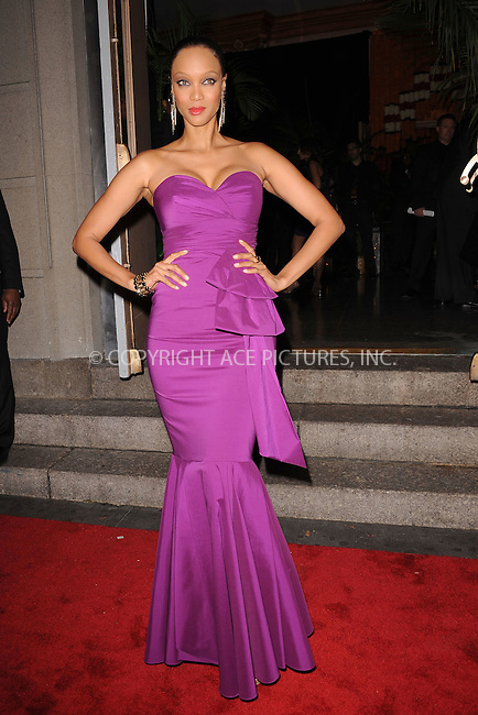 WWW.ACEPIXS.COM . . . . . .November 3, 2011, New York City....Tyra Banks attends the 8th annual Keep A Child Alive Black Ball at the Hammerstein Ballroom on November 3, 2011 in New York City....Please byline: KRISTIN CALLAHAN - ACEPIXS.COM.. . . . . . ..Ace Pictures, Inc: ..tel: (212) 243 8787 or (646) 769 0430..e-mail: info@acepixs.com..web: http://www.acepixs.com .