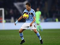 11th January 2020; Stadio Olympico, Rome, Italy; Serie A Football, Lazio versus Napoli; Lucas Leiva Pezzini of Lazio controls the ball - Editorial Use