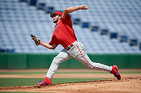 Philadelphia Phillies pitcher Erik Miller (25) during an Instructional League game against the Toronto Blue Jays on September 17, 2019 at Spectrum Field in Clearwater, Florida.  (Mike Janes/Four Seam Images)