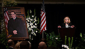 Justice Joan Larsen, justice of the Michigan Supreme Court and a clerk for the late Associate Justice of the Supreme Court Antonin Scalia, speaks at the memorial service for his father at the Mayflower Hotel in Washington, DC, Tuesday, March 1, 2016. <br /> Credit: Susan Walsh / Pool via CNP