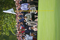 Straffin Co Kildare Ireland. K Club Ruder Cup...American Ryder Cup team member Tiger Woods lines up his putt on the 15th green on the opening fourball session on the first day of the 2006 Ryder Cup, at the K Club in Straffan, Co Kildare, in the Republic of Ireland, 22 September 2006..Photo: Eoin Clarke/ Newsfile..