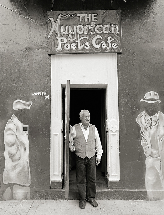 Miguel Algarin, 2005.  Poet, writer, professor.  Co-founder, Nuyorican Poets Cafe
