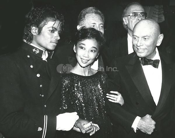 Michael Jackson, Kathy Lee and Yul Brynner<br /> 1983 <br /> Credit:  John Barrett/PHOTOlink/MediaPunch