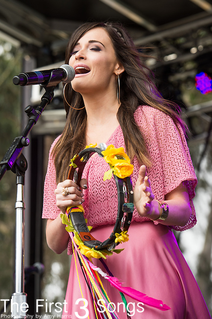 Kacey Musgraves performs at the Outside Lands Music & Art Festival at Golden Gate Park in San Francisco, California.