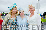 Enjoying  Ladies Day at the Listowel Harvest Racing Festival on Friday were l-r Jenny McNicholas, Joan Keane and Marian O'Connor all from Listowel.
