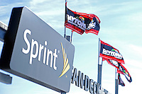 Sprint Fan Deck and Daytona flags..(Note:Image was taken using a tilt/shift lens)