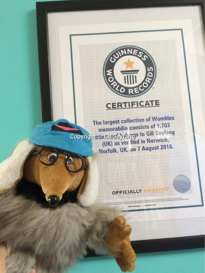 BNPS.co.uk (01202 558833)<br /> Pic: GillSeyfang/BNPS<br /> <br /> Gill's collection was recognised by the Guinness Book of Records in 2016<br /> <br /> An environmentalist is selling the world's biggest Womble collection after the famous furry creatures inspired her to save the planet as a child.<br /> <br /> Gill Seyfang, a senior lecturer in Sustainable Consumption at the University of East Anglia, owns over 1,700 items relating the furry creatures.<br /> <br /> Her vast collection ranges from soft toys to rubbish bins and was recognised by the Guinness Book of Records in 2016.<br /> <br /> Ms Seyfang, from Norwich, Norfolk, began amassing the group in the 1970s and it has continued to grow ever since.