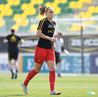20190227 - LARNACA , CYPRUS :  Belgian Janice Cayman pictured during a women's soccer game between the Belgian Red Flames and Slovakia , on Wednesday 27 February 2019 at the AEK Arena in Larnaca , Cyprus . This is the first game in group C for Belgium during the Cyprus Womens Cup 2019 , a prestigious women soccer tournament as a preparation on the Uefa Women's Euro 2021 qualification duels. PHOTO SPORTPIX.BE | DAVID CATRY