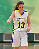 A disappointed Liz Dwyer #13 of Mattituck walks off the court at the end of the NYSPHSAA varsity girls basketball Class B Southeast Regional Final against Irvington at SUNY Old Westbury on Thursday, March 9, 2017. Irvington defeated Mattituck by a score of 62-37.