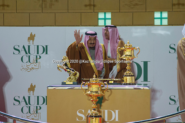 RIYADH,SAUDI ARABIA-FEB 29: Salman bin Abdulaziz,after  the Saudi Cup at King Abdulaziz Racetrack on February 29,2020 in Riyadh,Saudi Arabia. Kaz Ishida/Eclipse Sportswire/CSM