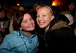 Nicole Leddy and Eimear Sullivan at the switching on of the Christmas lights on West Street, last Friday.