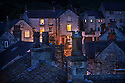 Bonsall village at night. Derbyshire, UK.