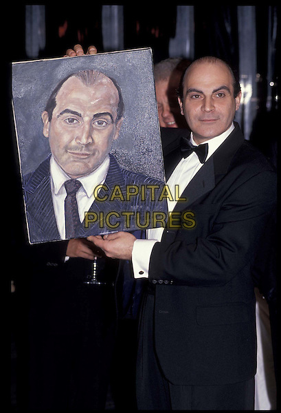 DAVID SUCHET .Standard Film Awards.Ref: 026.painting, drawing, half length, half-length.*RAW SCAN- photo will be adjusted for publication*.www.capitalpictures.com.sales@capitalpictures.com.©Capital Pictures