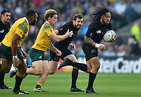 Ma'a Nonu of New Zealand goes on the attack. Rugby World Cup Final between New Zealand and Australia on October 31, 2015 at Twickenham Stadium in London, England. Photo by: Patrick Khachfe / Onside Images