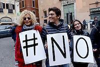 Roma, 23 Gennaio 2016<br /> #svegliaitalia, manifestazione al Pantheon per la legge sulle unioni e i diritti civili.<br /> Eva Grimaldi e Imma Battaglia.
