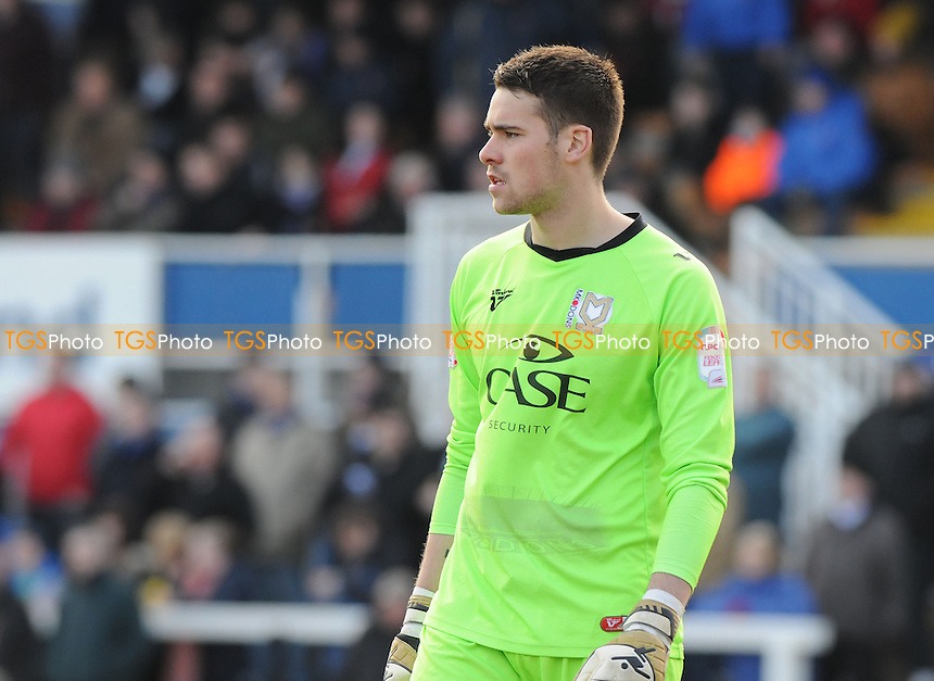 MK Dons goalkeeper Ian McLoughlin - Hartlepool United vs MK Dons - NPower League One Football at Victoria Park, Hartlepool - 29/03/13 - MANDATORY CREDIT: Steven White/TGSPHOTO - Self billing applies where appropriate - 0845 094 6026 - contact@tgsphoto.co.uk - NO UNPAID USE