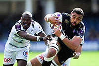 Taulupe Faletau of Bath Rugby takes on the Brive defence. European Rugby Challenge Cup Quarter Final, between Bath Rugby and CA Brive on April 1, 2017 at the Recreation Ground in Bath, England. Photo by: Patrick Khachfe / Onside Images