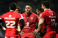 Selevasio Tolofua of Toulouse looks on during a break in play. Heineken Champions Cup match, between Stade Toulousain and Bath Rugby on January 20, 2019 at the Stade Ernest Wallon in Toulouse, France. Photo by: Patrick Khachfe / Onside Images