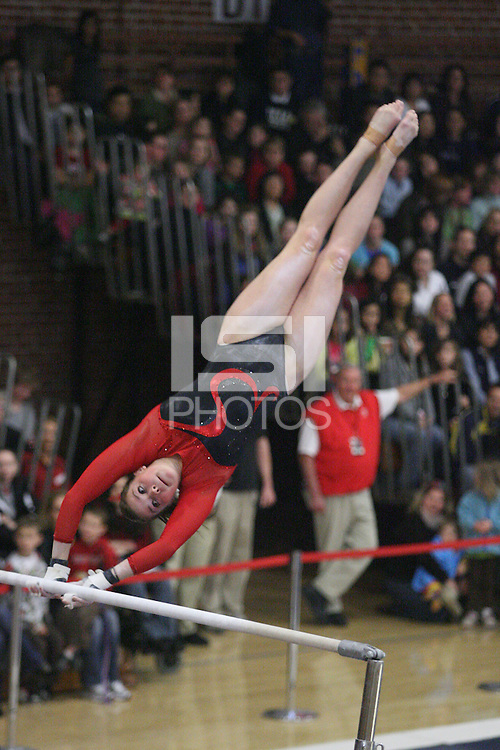 STANFORD, CA - JANUARY 24:  Shelley Alexander of the Stanford Cardinal during Stanford's 196.425-195.825 win over UCLA on January 24, 2010 at Burnham Pavilion in Stanford, California.
