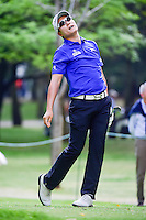 K.T. Kim (KOR) reacts to his tee shot on 7 during round 2 of the World Golf Championships, Mexico, Club De Golf Chapultepec, Mexico City, Mexico. 3/3/2017.<br /> Picture: Golffile | Ken Murray<br /> <br /> <br /> All photo usage must carry mandatory copyright credit (&copy; Golffile | Ken Murray)