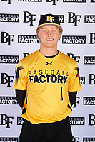 Fisher Pyatt (1) of St. Augustine High School in San Diego, California during the Baseball Factory All-America Pre-Season Tournament, powered by Under Armour, on January 12, 2018 at Sloan Park Complex in Mesa, Arizona.  (Mike Janes/Four Seam Images)