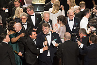 Guillermo Rodriguez, Guillermo del Toro and cast and crew accept the Oscar&reg; for Best motion picture of the year  for work on &ldquo;The Shape of Water&rdquo; during the live ABC Telecast of The 90th Oscars&reg; at the Dolby&reg; Theatre in Hollywood, CA on Sunday, March 4, 2018.<br /> *Editorial Use Only*<br /> CAP/PLF/AMPAS<br /> Supplied by Capital Pictures