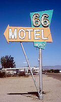66 Motel on old Route 66 in Needles, California.