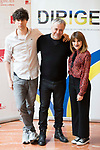 "Javier Calvo, the director Javier Quintas and Angy Fernandez attends to the photocall of the presentation of conferences ""Series juveniles que marcaron una generacion"" by Dirige Association in Madrid, Spain. March 27, 2017. (ALTERPHOTOS/BorjaB.Hojas)"