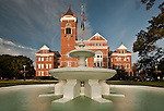Winthrop University - Fountain in front of Tillman hall on the Winthrop Campus