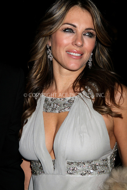 WWW.ACEPIXS.COM . . . . .  ....February 8 2012, New York City....Elizabeth Hurley arriving at the amfAR New York Gala To Kick Off Fall 2012 Fashion Week at Cipriani Wall Street on February 8, 2012 in New York City.....Please byline: NANCY RIVERA- ACEPIXS.COM.... *** ***..Ace Pictures, Inc:  ..Tel: 646 769 0430..e-mail: info@acepixs.com..web: http://www.acepixs.com