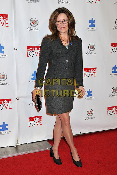 "MARY McDONNELL.6th Annual ""Acts of Love"" Benefit for Autism Speaks at the Geffen Playhouse, Westwood, California, USA..November 10th, 2008.full length grey gray skirt jacket black clutch bag glasses.CAP/ADM/BP.©Byron Purvis/AdMedia/Capital Pictures."