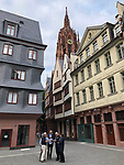 Germany-Frankfurt/Main - June 15, 2018 -- Newly reconstructed historic centre, with the Dome in the back -- Photo © HorstWagner.eu