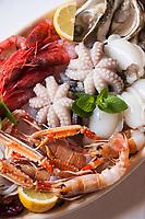 Seafood dish at Trattoria Il Brigante, Monopoli, Puglia, Italy