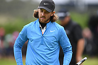 Tommy Fleetwood (ENG) on the 1st during final round of the 148th Open Championship, Royal Portrush golf club, Portrush, Antrim, Northern Ireland. 21/07/2019.<br /> Picture Fran Caffrey / Golffile.ie<br /> <br /> All photo usage must carry mandatory copyright credit (© Golffile | Fran Caffrey)