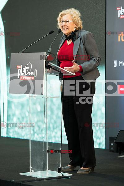 "Madrid Mayor Manuela Carmena attends to the presentation of the ""Premios Platino"" at Palacio de Cristal in Madrid. April 07, 2017. (ALTERPHOTOS/Borja B.Hojas) (NortePhoto.com)"