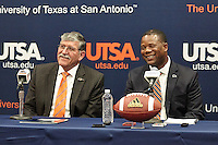 SAN ANTONIO, TX - JANUARY 15, 2016: The introduction of new University of Texas at San Antonio Roadrunners Head Football Coach Frank Wilson at the H-E-B University Center, Bexar Room. (Photo by Jeff Huehn)