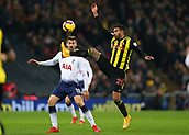 30th January 2019, Wembley Stadium, London England; EPL Premier League football, Tottenham Hotspur versus Watford; Etienne Capoue of Watford controlling the ball