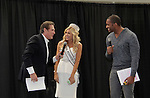 Miss Pennsylvania with Guiding Light's Frank Dicopoulos & Lawrence Saint Victor (now Bold and The Beautiful) are hosts at the Pittsburgh, PA Bridal Showcase and Women's Expo on March 21 and 22, 2015 at the David Lawrence Convention Center. The actors were there to benefit Young Women's Breast Cancer Awareness Foundation. On Friday preceeding they appeared at Chicos at the Galleria Mall in Mt. Lebanon, Pa. The actors signed, posed with brides from Fashions by Exquisite Bride and Sorelle and more. (Photos by Sue Coflin)