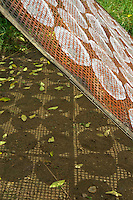 Near the Aek Phnom Angkorian Temple, ricepaper layed out for drying in a Village, near Battambang  Cambodia