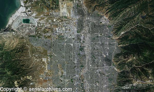 aerial map Salt Lake City, Utah