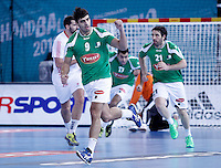 Algeria's Abdelkader Rahim celebrates during 23rd Men's Handball World Championship preliminary round match.January 14,2013. (ALTERPHOTOS/Acero) 7NortePhoto