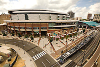 Exterior view of Time Warner Cable Arena in Charlotte, NC.