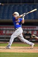 William Bozeman (15) of Pensacola Catholic High School in Pensacola, Florida playing for the New York Mets scout team during the East Coast Pro Showcase on July 31, 2014 at NBT Bank Stadium in Syracuse, New York.  (Mike Janes/Four Seam Images)