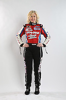 Feb. 22, 2013; Chandler, AZ, USA; NHRA funny car driver Courtney Force poses for a portrait during qualifying for the Arizona Nationals at Firebird International Raceway. Mandatory Credit: Mark J. Rebilas-